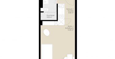 1-Pers. Appartements, x.c, x.e, x.g, x.i Regelgeschoss