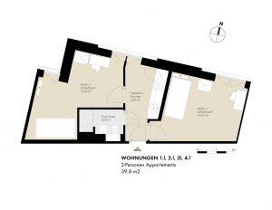 2-Pers. Appartements: 1.l, 2.l, 3.l, 4.l